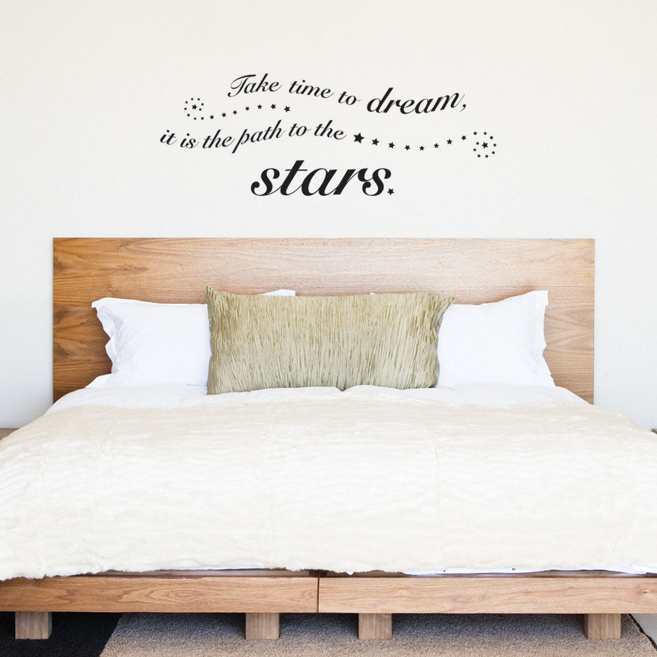 Time to Dream Wall Decal Quote