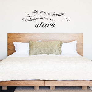 Time to Dream Wall Quote