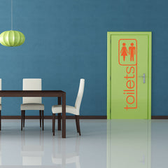 Toilets-Wall Decal