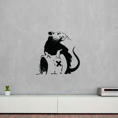 Toxic Rat Banksy Wall Decal-Wall Decals-Style and Apply