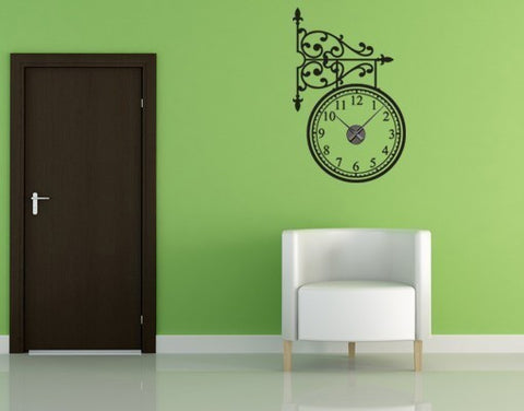 Trainstation-Wall Decal Clocks-Style and Apply