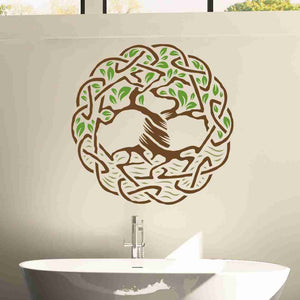 Tree Celtic Weave Wall Decal-Wall Decal Stickers-Style and Apply