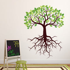 Tree with Roots Wall Decal-Wall Decal Stickers-Style and Apply