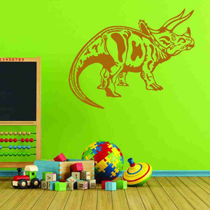 Triceratops Wall Decal-Wall Decals-Style and Apply