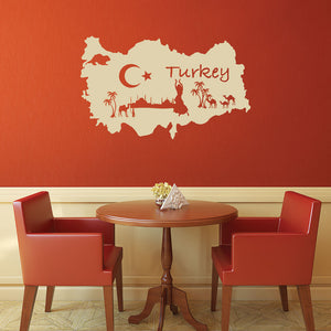 Turkey Decal-Wall Decals-Style and Apply