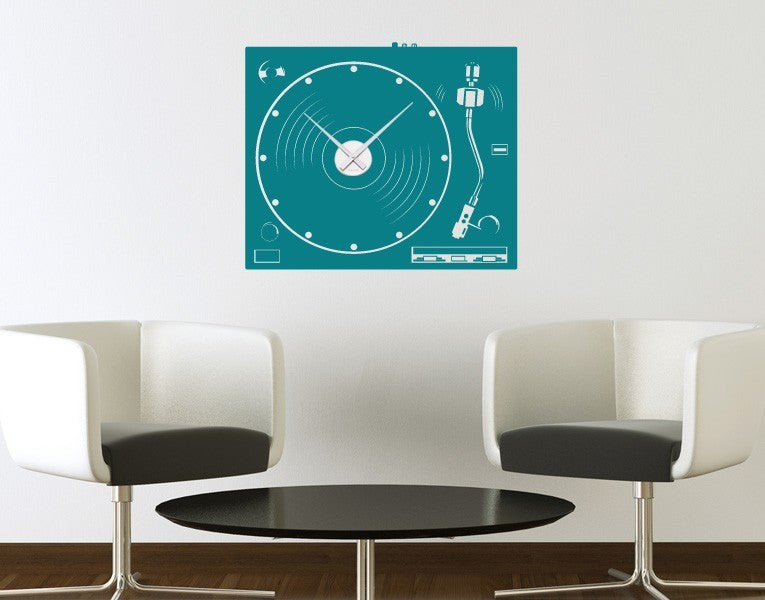 Turntable-Wall Decal Clocks-Style and Apply