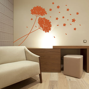 Twin Blossoms Wall Decal