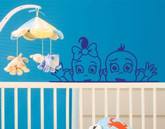 Twins Decal-Wall Decals-Style and Apply
