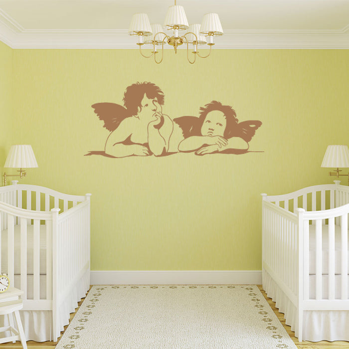 Two Angels Wall Decal