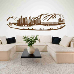 Vancouver City Skyline Wall Decal-Wall Decals-Style and Apply
