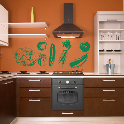 Vegetable Wall Decal Set