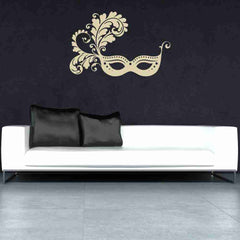 Venetian Mask Wall Decal-Wall Decals-Style and Apply