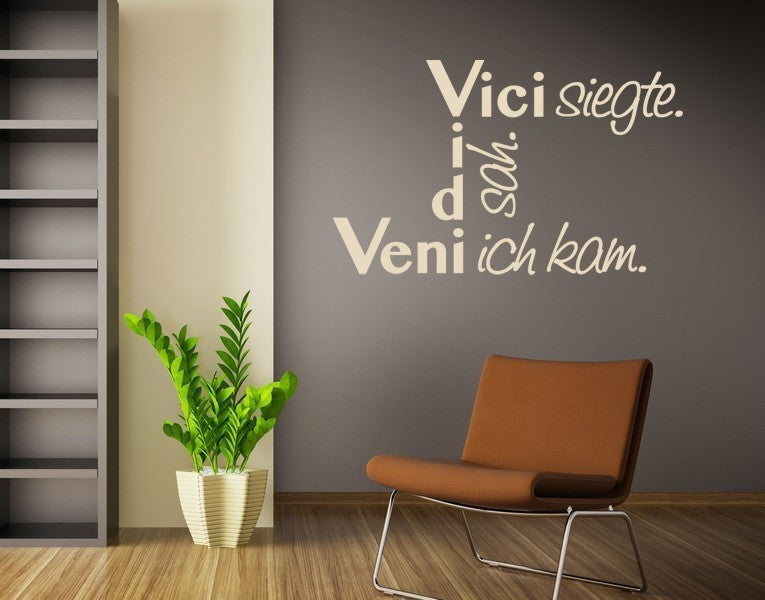 Veni vidi vic Quote-Wall Decals-Style and Apply