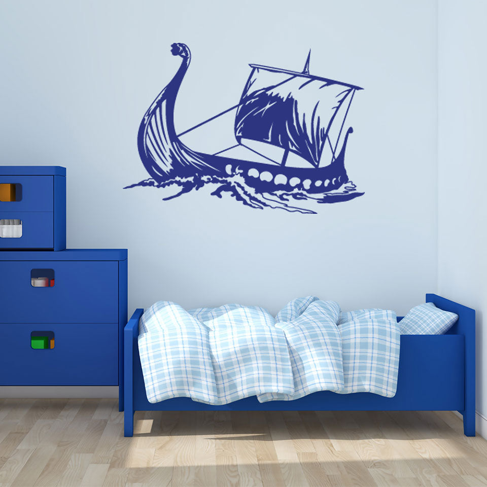Viking Ship Wall Decal-Wall Decals-Style and Apply