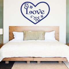 Vintage Love Heart Wall Decal