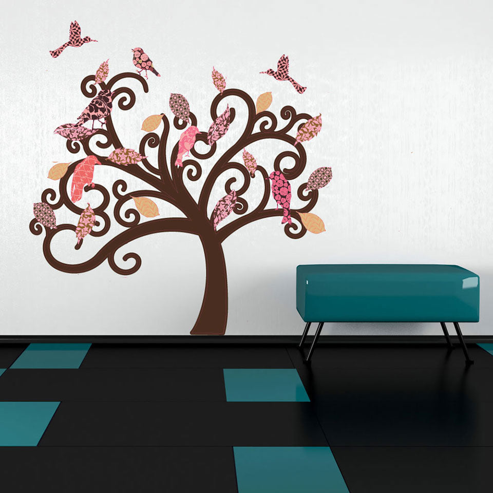 Vintage Tree Wall Decal Sticker