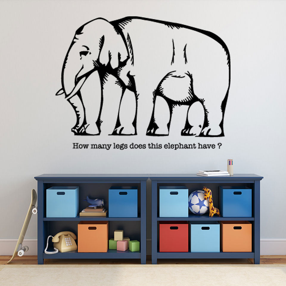 Visual Illusion Elephant Wall Decal