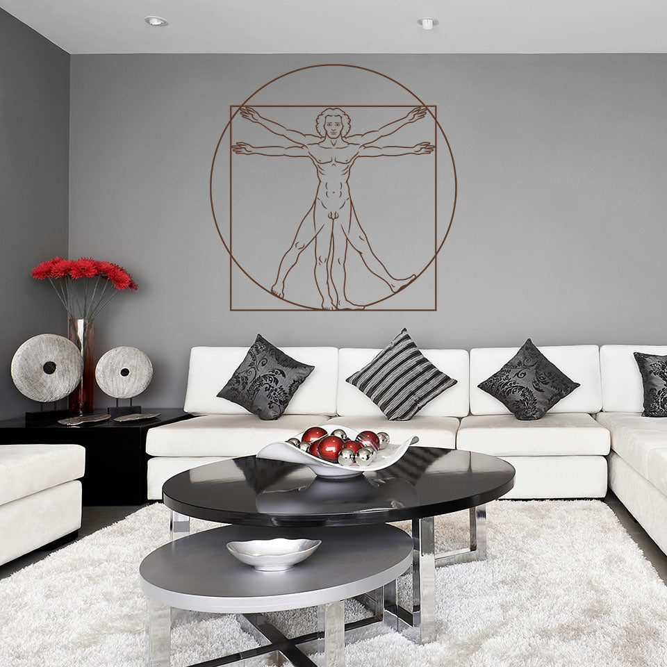 Vitruvian Man-Wall Decal