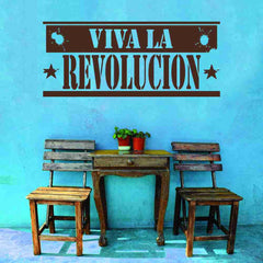 Viva La Revolucion Sign Wall Decal-Wall Decals-Style and Apply