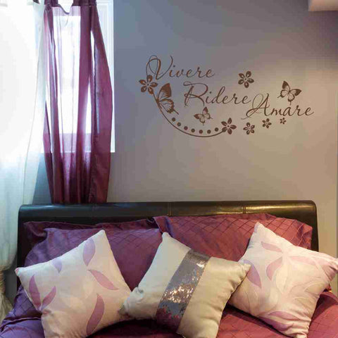 Vivere, Ridere, Amare Wall Decal-Wall Decals-Style and Apply