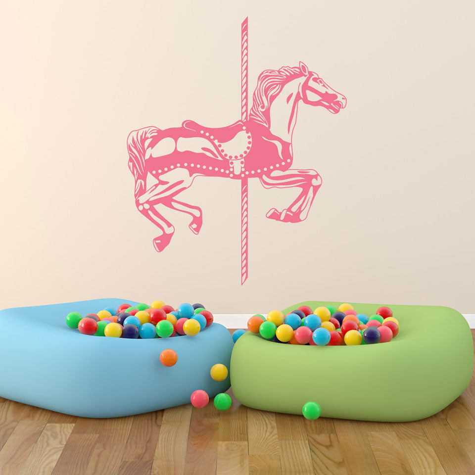 Carousel Horse Set Wall Decals Style And Apply