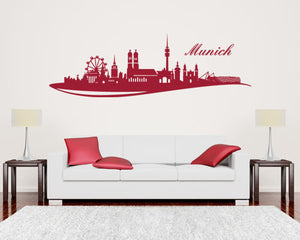 Wandtattoo Skyline M?_nchen-Wall Decals-Style and Apply