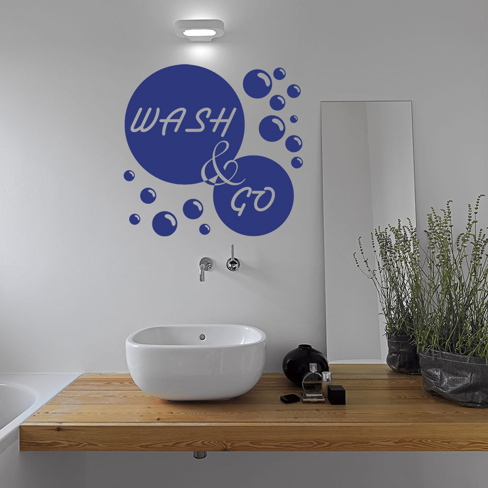 Wash & Go-Wall Decal