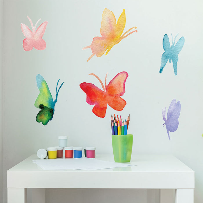 Watercolor Butterfly Set Wall Decal