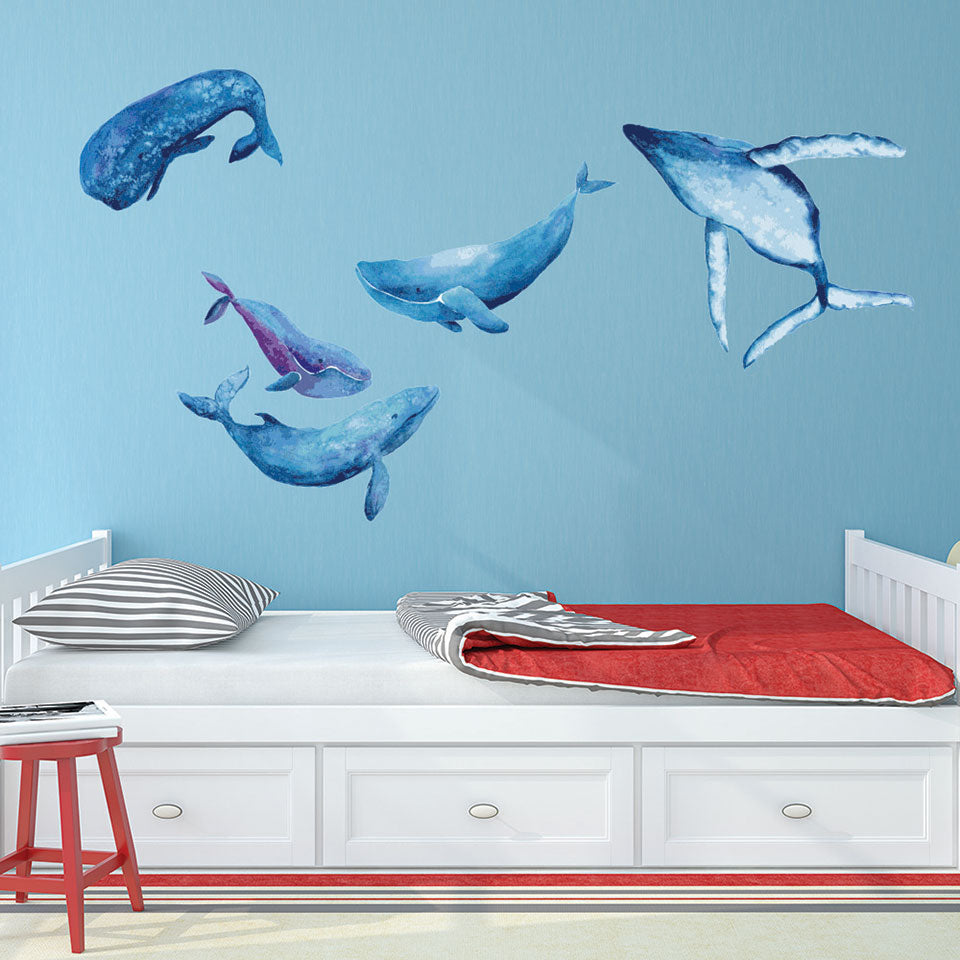 Watercolor Whale Wall Decal Set  sc 1 st  Style and Apply & Watercolor Whale Wall Decal Set u2013 Style and Apply