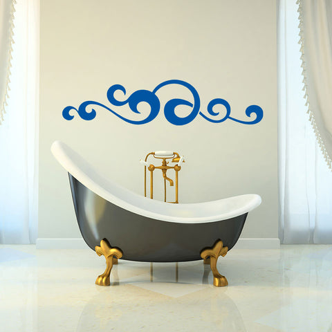 Waved Ornament-Wall Decal