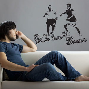 We Love Soccer-Wall Decal