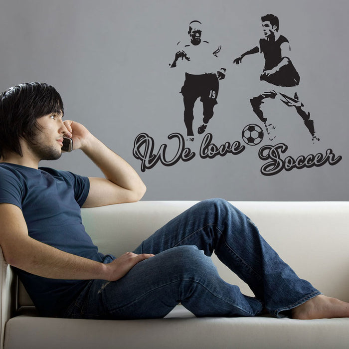 We Love Soccer Wall Decal