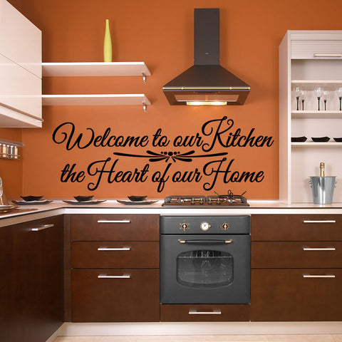 Welcome To Our Kitchen, The Heart Of Our Home Wall Decal