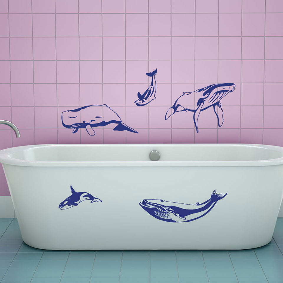 Whale Set-Wall Decal