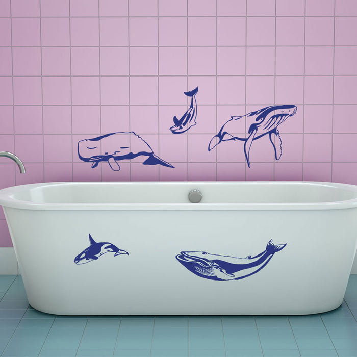Whale Wall Decal Set