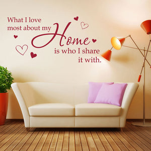 Share My Home - Wall Decal Quote