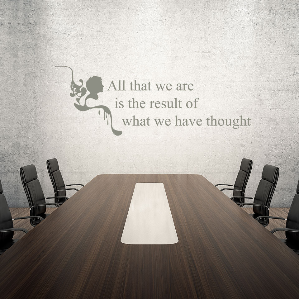 Thought Wall Quote decal