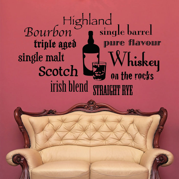 Whiskey Variations Wall Decal