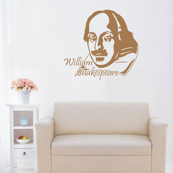 William Shakespeare Wall Decal