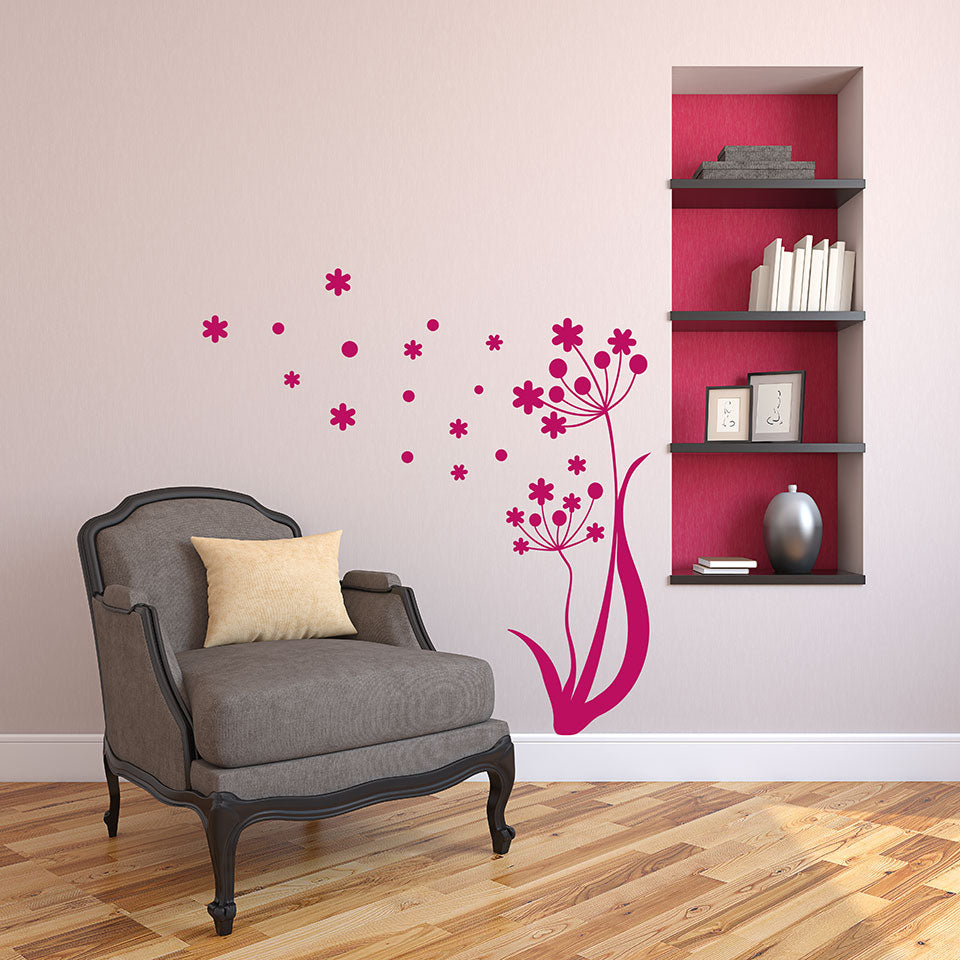 Windy Flower Wall Decal