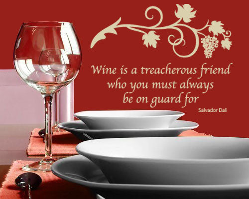 Wine Wall Decal Quote-Wall Decals-Style and Apply