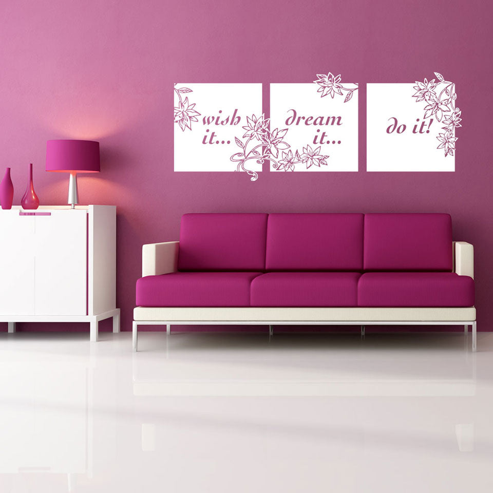 Wish It Dream It Do It Quote-Wall Decal