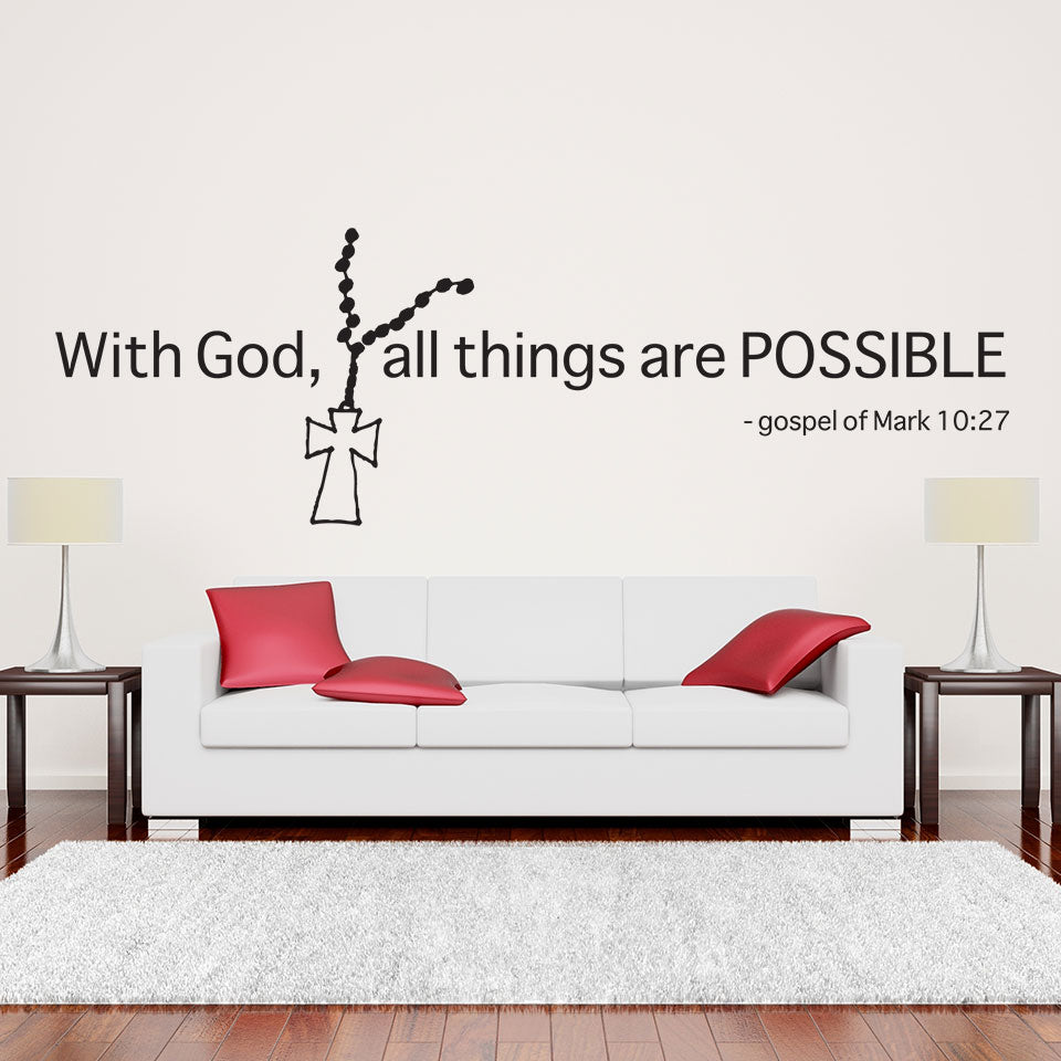 With God, All Things Are Possible-Wall Decal