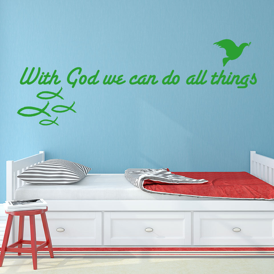 With God-Wall Decal