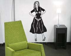 Woman-Blackboard and Whiteboard Wall Decals-Style and Apply