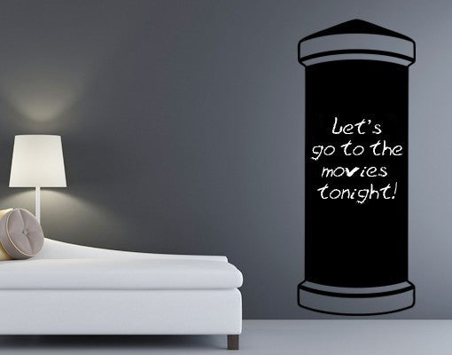 Writing Pillar Wall Decal Board
