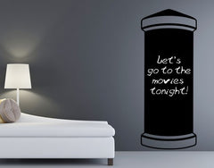 Writing Pillar-Blackboard and Whiteboard Wall Decals-Style and Apply