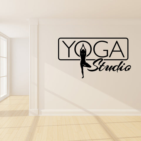 Yoga Studio Sign Wall Decal-Wall Decals-Style and Apply