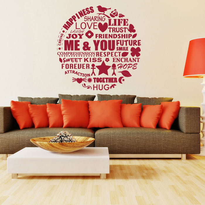 Me & You Wall Design Wall Decal
