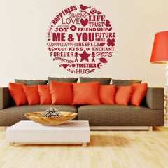Me & You Wall Design-Wall Decal